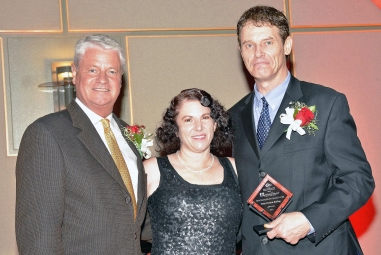 Left to right: Scott Brennan, Debra Becker and Wells Christie; Photo by Jerry Klineberg