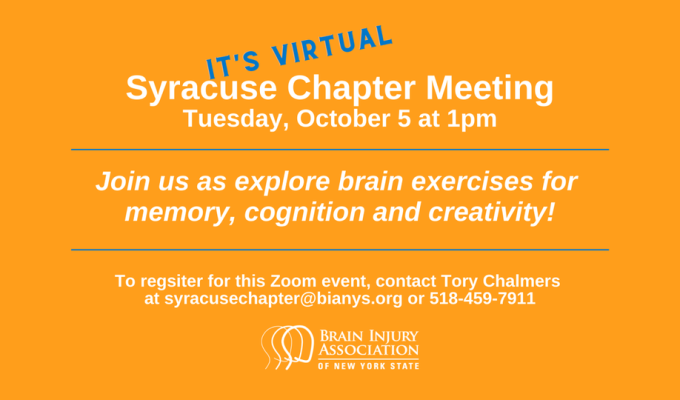 Learn Brain Exercises at October 5 BIANYSMeeting